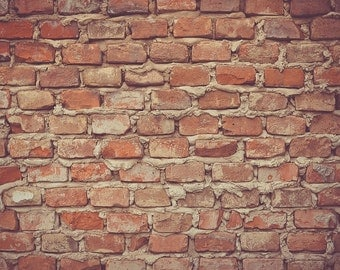 Red brick wall download, high resolution, high quality image, digital immediate download -- item no 31