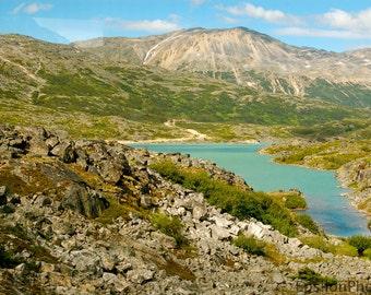 White Pass Summit Lake Landscape Photo near Skagway, Alaska