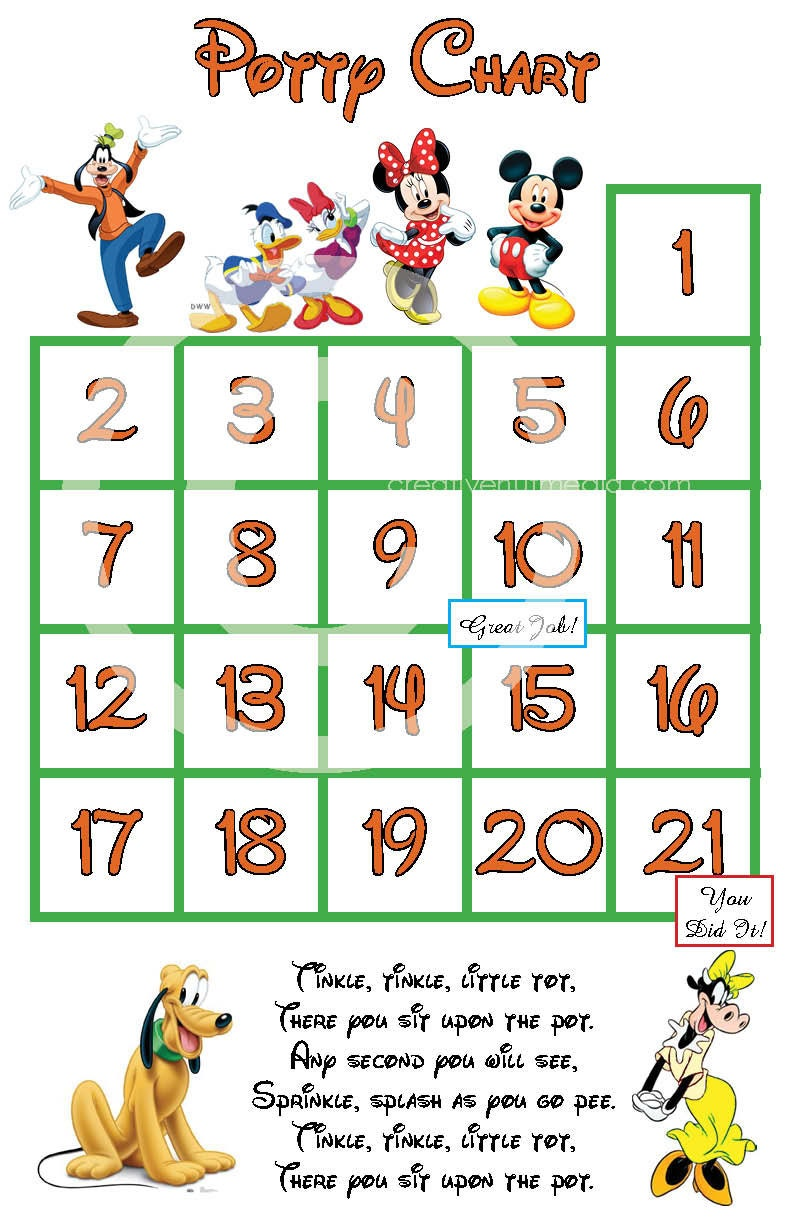 Mickey Mouse Potty Training Chart Frozen Games Free Only