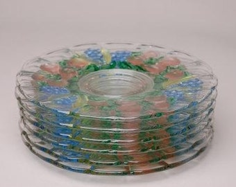 VTG Pressed Glass Fruit Plates