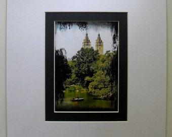 """Wall Decor, New York City Central Park Pond Colour Photograph,  12"""" x 14"""""""