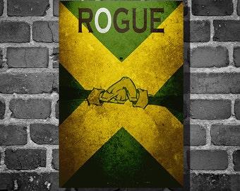 X-Men movie poster Rogue comic book print comic book art