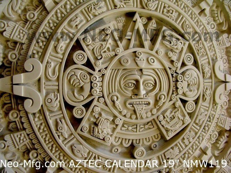 Mayan Calendar Wall Art : History mayan aztec calendar sculptural wall relief plaque