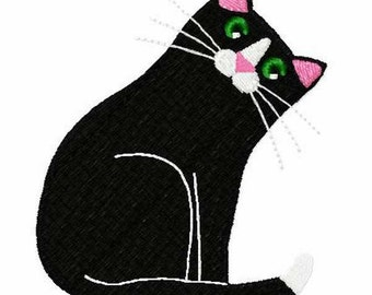 My Tail Cat Embroidery Design