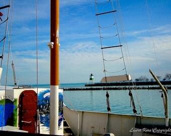 Nautical Photo, Boat Photography, Boat Photo, Boat Art, Wall Decor, Beach house photo, Lake photography, Chicago