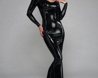 Madonna Latex Gown ~ Syren Latex Fetish Fashion