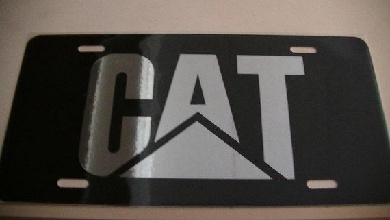 caterpillar plaque d 39 immatriculation par jldesignscustomvinyl. Black Bedroom Furniture Sets. Home Design Ideas