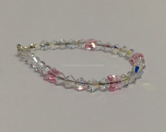 Swarovski Crystal Bracelet with Butterflies
