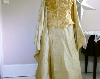 Wedding Dress Alternative  kimono and corset Firefly Steampunk Asian
