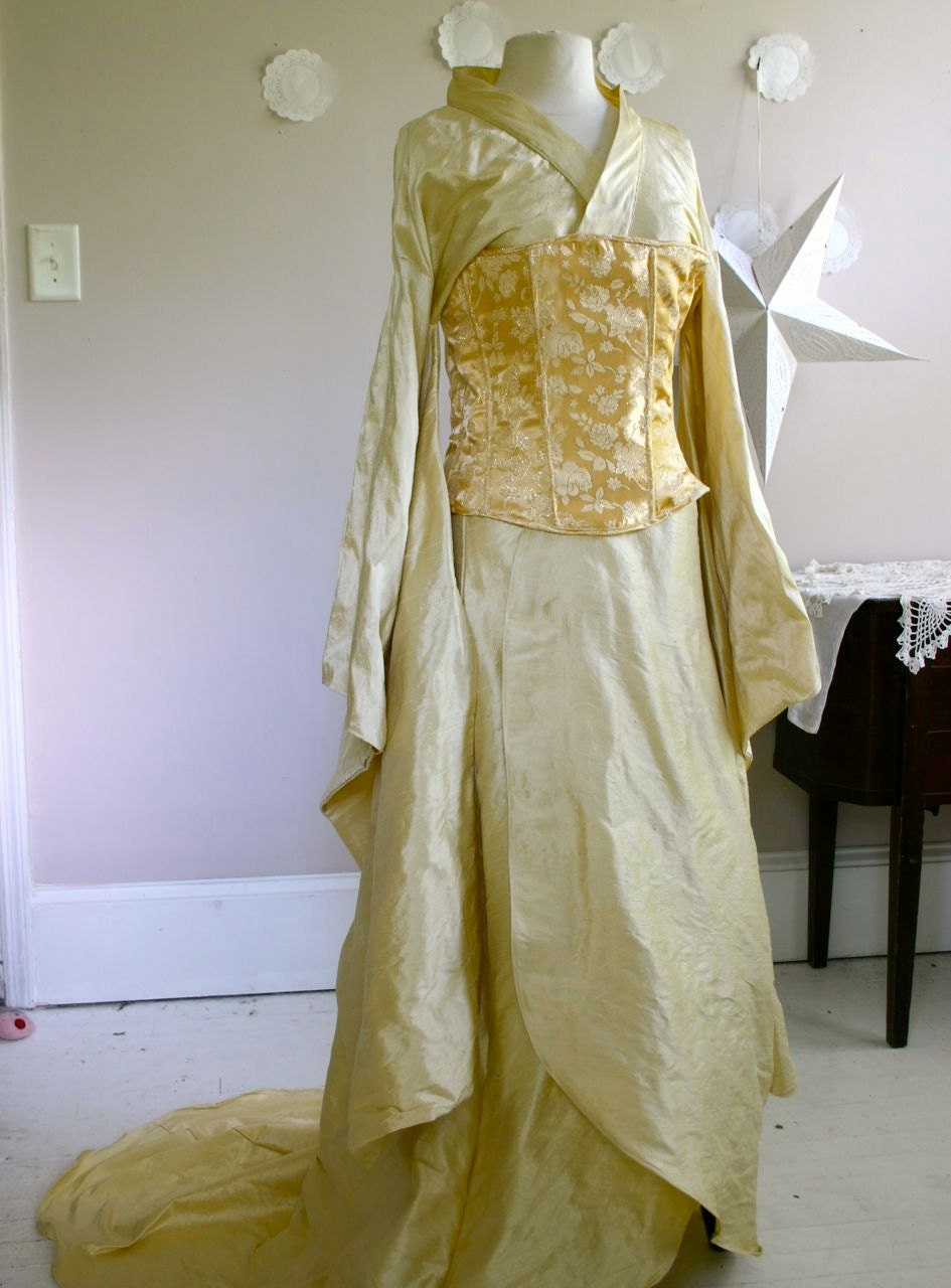Wedding Dress Alternative Kimono And Corset Firefly Steampunk