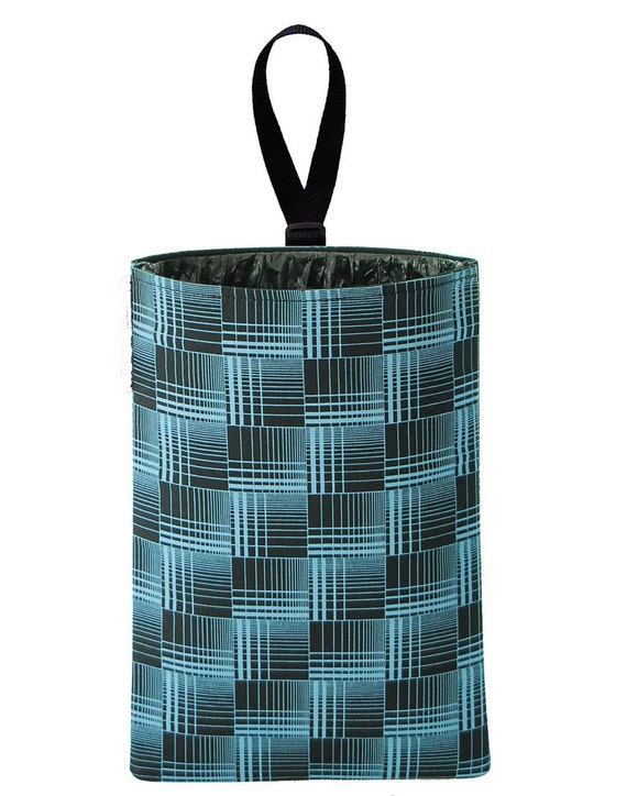 Auto Trash - Car Litter Bag - Blue Plaid