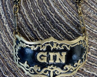 Gin necklace - black and gold