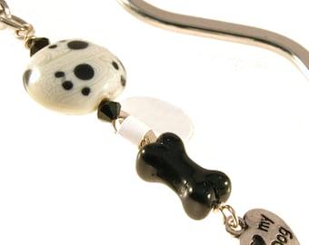 Dog Bone Love My Dog Squiggle Bookmark