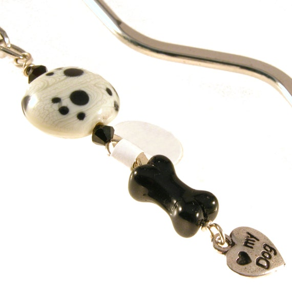 Dog Bone Love My Dog Squiggle Bookmark