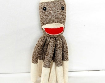 SOCKTOPUS Softie Toy for Baby and Children Stuffed Animal Plush Octopus Sock Monkey
