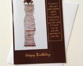 Ethnic Quirky Girl 5 x 7 Happy Birthday Card