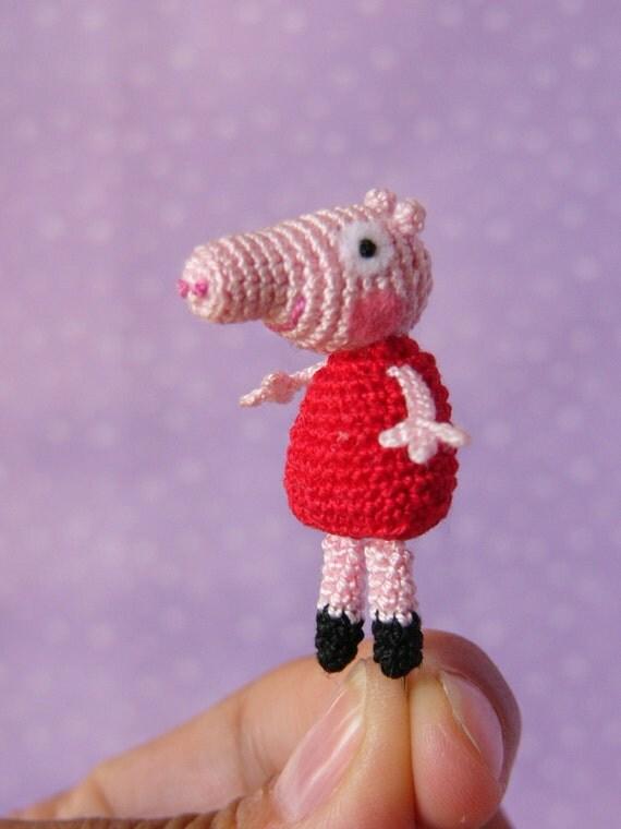 Peppa Pig Amigurumi Crochet : PDF PATTERN Amigurumi Crochet Miniature Peppa by ...