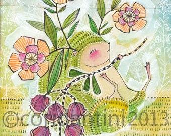 Hedgehog Art Print - Hedgehog - Woodland - Hedgehog Painting - Nursery Art - Nursery - Nursery Room Decor - Baby Room - hedgehog Baby