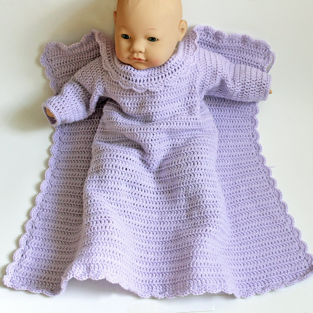 Crochet Baby Snuggie . Car Seat Blanket With Arms . Lavender