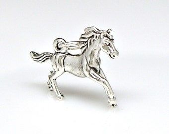 Horse Galloping Sterling Silver Charm Pendant Customize no. 2254