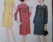 Vintage Pattern to sew Maternity Dress McCall's 8876 from 1960s (Size 10 Bust 31)