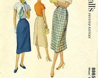 McCall's 8885 Slim Skirt circa 1952