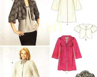 NEW LOOK 6832 Cropped Bolero Type Topper and Longer Topper