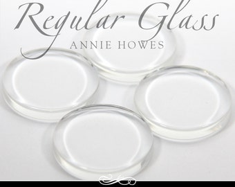 1 in clear circle glass tiles. Regular Flat Clear Glass Tiles for Pendants and Magnets. 25 Pack-UB. Annie Howes