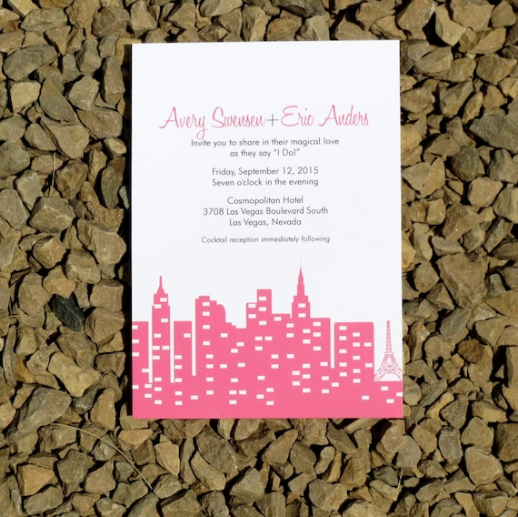 vegas wedding invitations custom wedding invitations las vegas