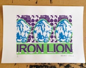 Iron Lion screen print edition of 20 (purple)