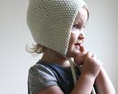Knit Baby Pixie Bonnet - Merino Wool Pixie Hat - Newborn Knit Hat - Knit Baby Bonnet - Childrens Knit Bonnet - Pixie Hat - Choose Your Color