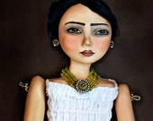 Art Doll Print -Tita and Lemons-by Christine Alvarado