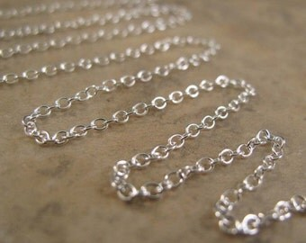 10 Feet of Thin Silver Chain, .925 Sterling Silver, 2mm Smooth Cable Chain, Strong & Delicate Chain for Jewelry (17s)