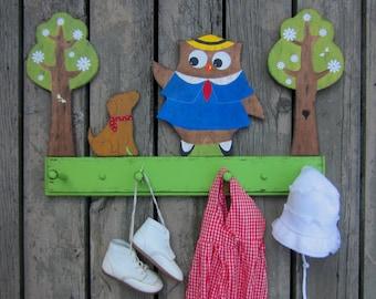 MADELINE Kids Clothing Rack - Hand Painted Wood