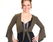 Bellydance and layering Top - WING TOP - wrap top, dance wear, festival clothing, choli