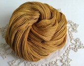 FREE SHIPPING Salted Caramel SC1B ~ Hand Dyed Lace Weight Merino Yarn