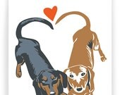 Dachshunds in Love - Boxed Set of 8 Cards