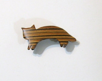 Cat Hair Clip Made Of  Wood