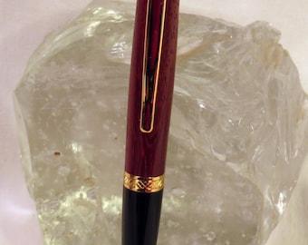 Handmade Gold Paduak Sierra Style Pen