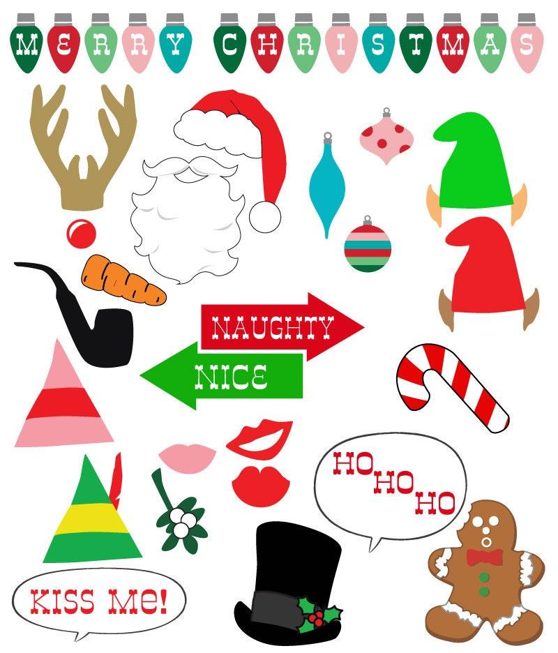 Christmas Photo Props Printable DIY download pdf & print 25