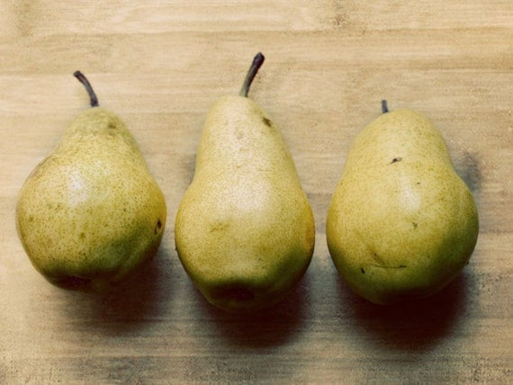 Still Life Pear Photograph, Thanksgiving Decor, Autumn Home, Fruit ...