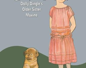 Printable Vintage Paper Doll Dolly DIngle Older Sister Maxine Instant Download