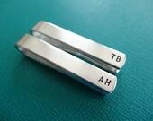 Personalized Tie Bars - Custom Tie Clip - Set of 2