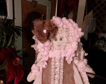 SALE - SALE Original Sha Bebe Cloth Doll Made by Cajun Doll Artist, Mary Lynn Plaisance in  Louisiana. Art doll collectibles