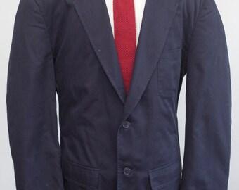 Men's Blazer / Vintage Flannel-Lined Jacket / Size 44 Large