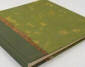 Wedding Photo Album  Moss Mango Leaf-Scrapbook,Art Journal,Guest Book,Wedding Book,Book of Wishes