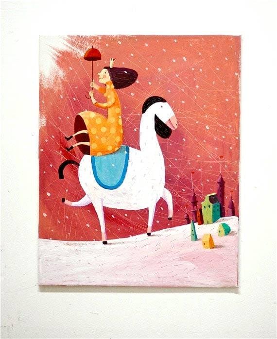 Funny Princess  BIG painting on canvas