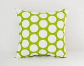 Pillow Cover Decorative Pillows Throw Pillows Green Pillow Large Polka Dot Pillow All Sizes