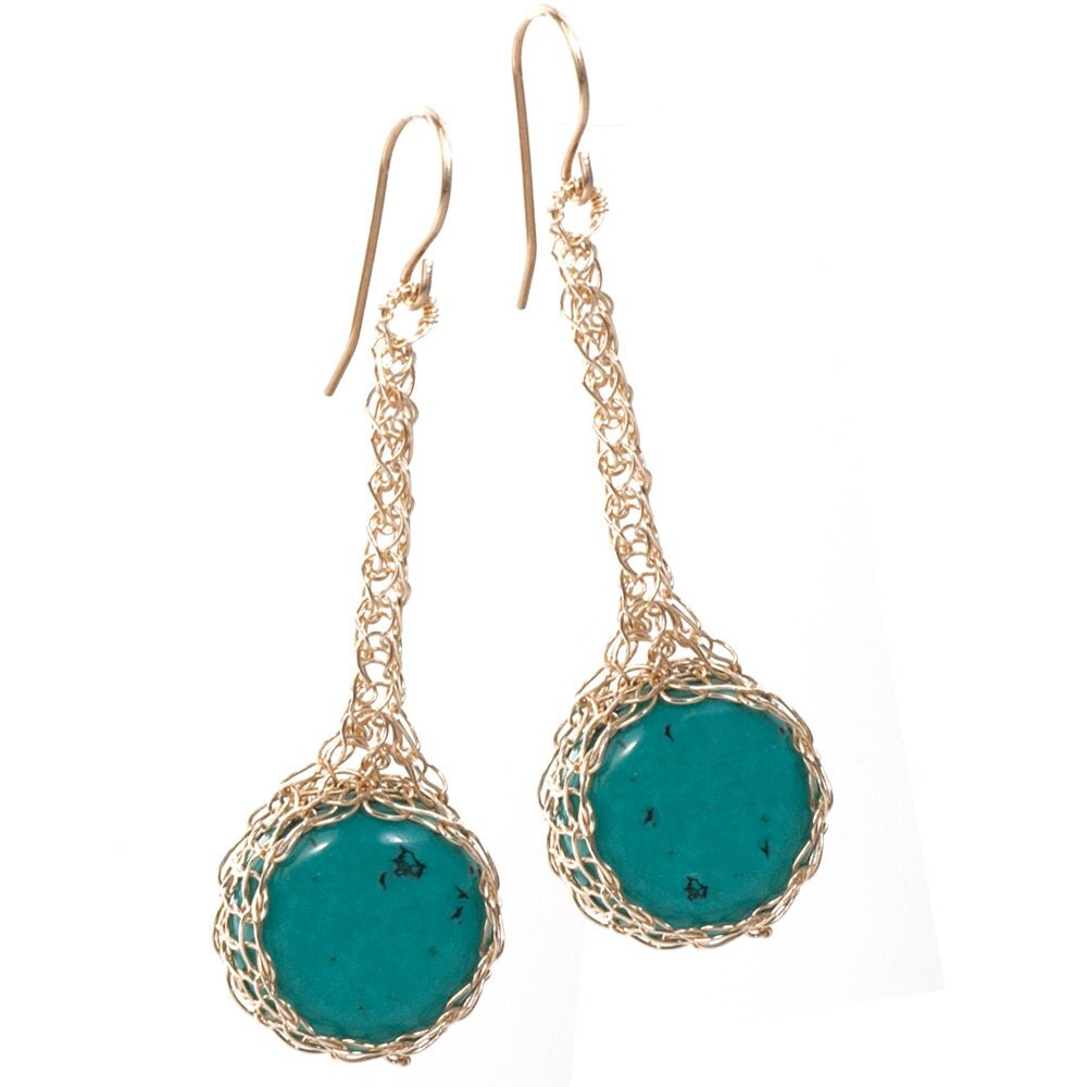 boho turquoise earrings gemstone earrings gold turquoise. Black Bedroom Furniture Sets. Home Design Ideas