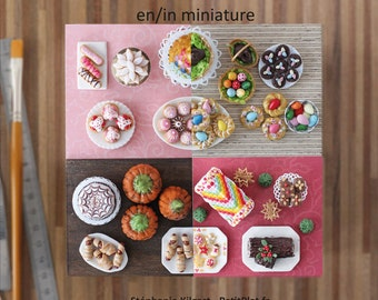 Miniature Food Tutorial Book - Party Food in Miniature - PetitPlat  Stephanie Kilgast